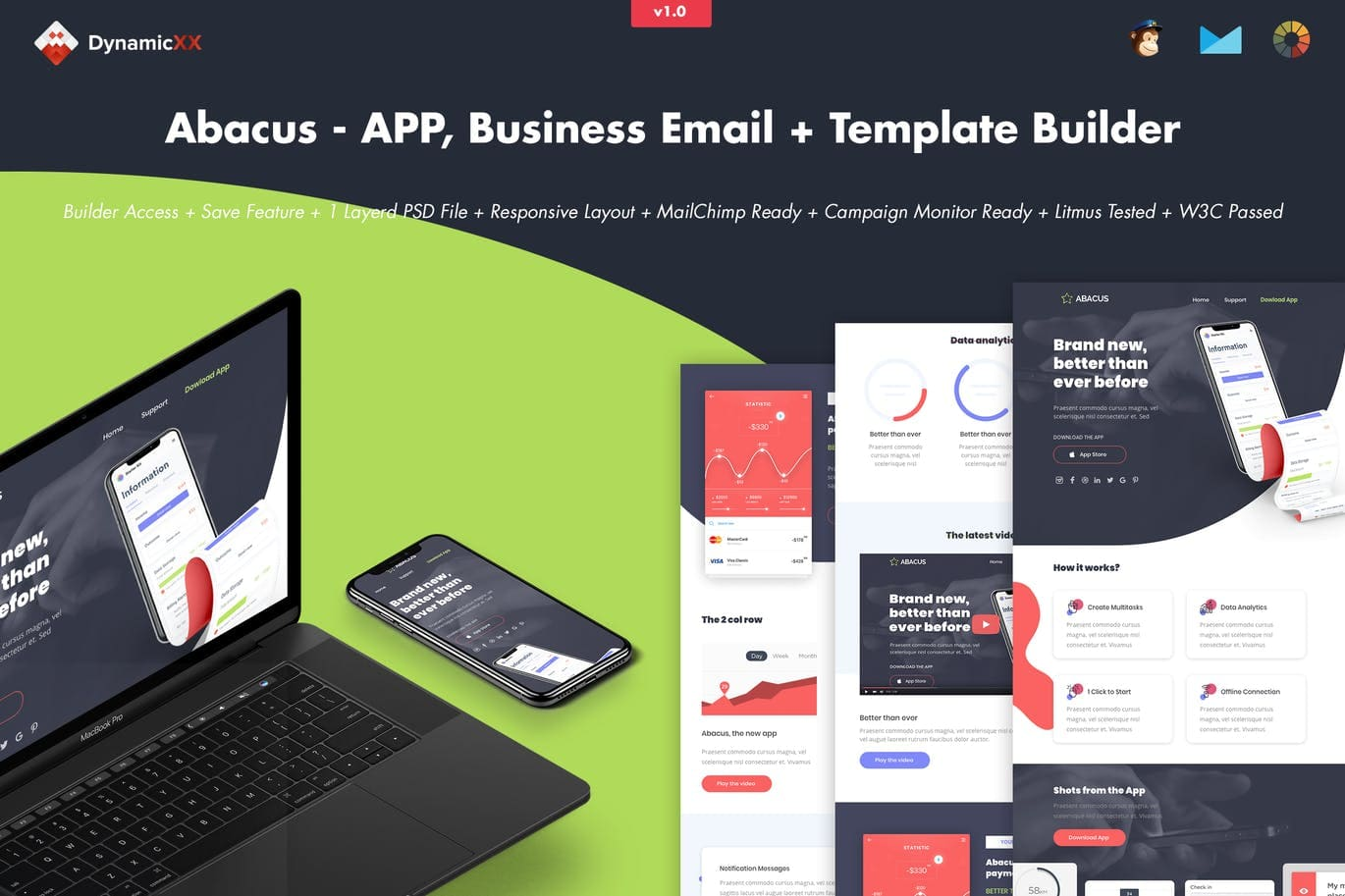 Abacus - APP Business Email + Template Builder
