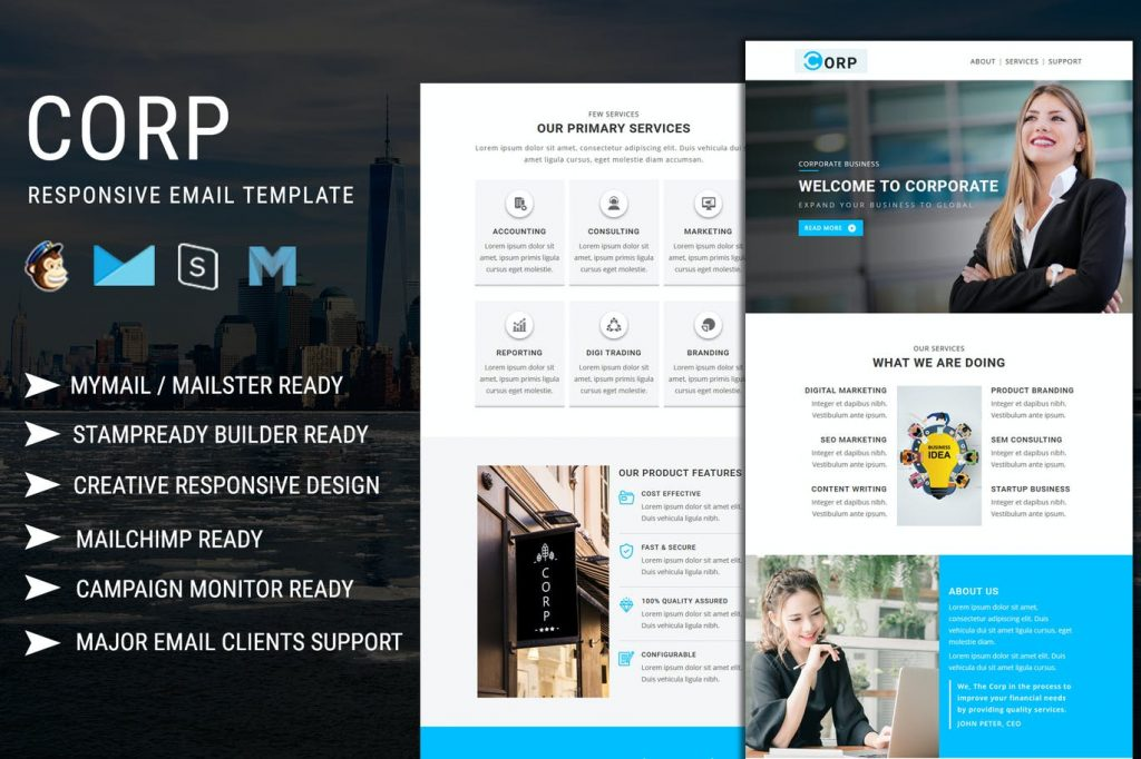 Corp - Responsive Email Template