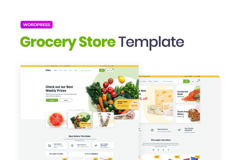 Disho Grocery Store Elementor Template Kit