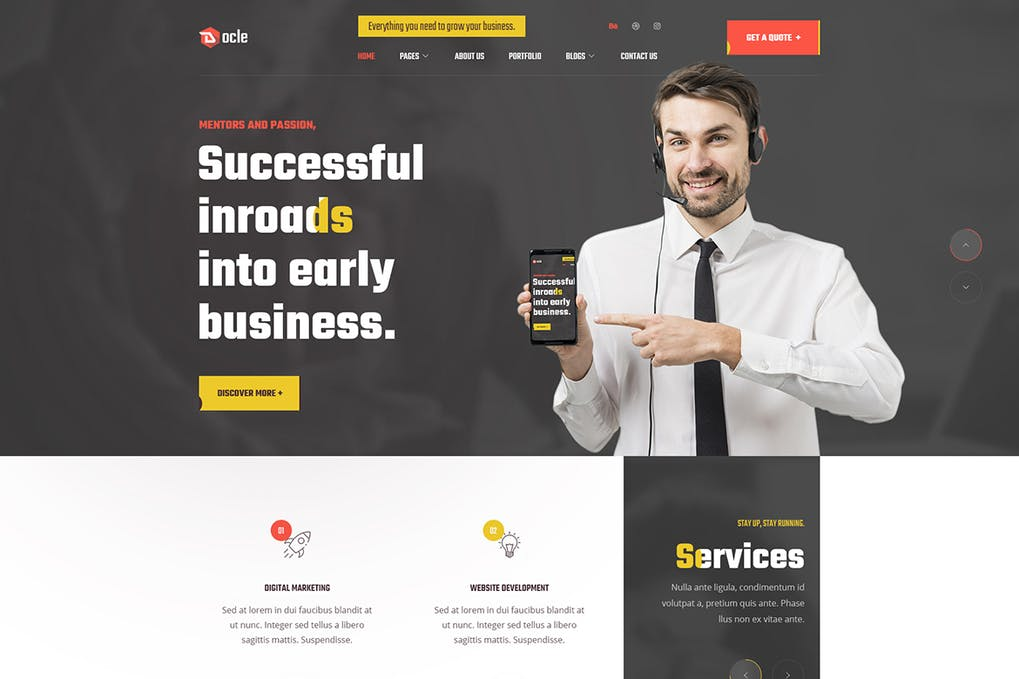 Docle Digital Agency Services Template Kit