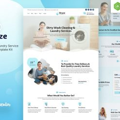 Dryze Dry Cleaning & Laundry Service Elementor Template Kit