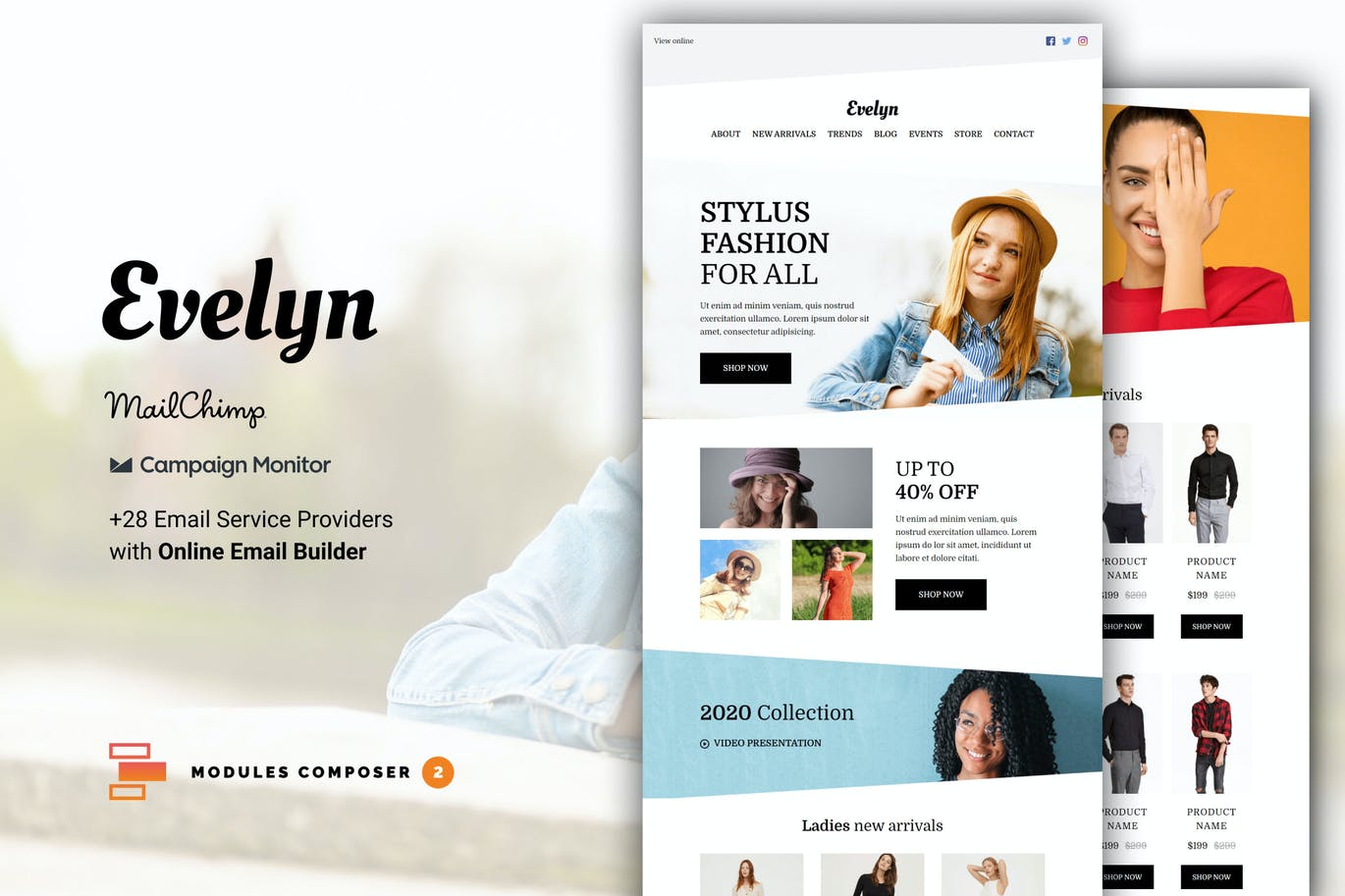Evelyn - E-commerce Responsive Email Template