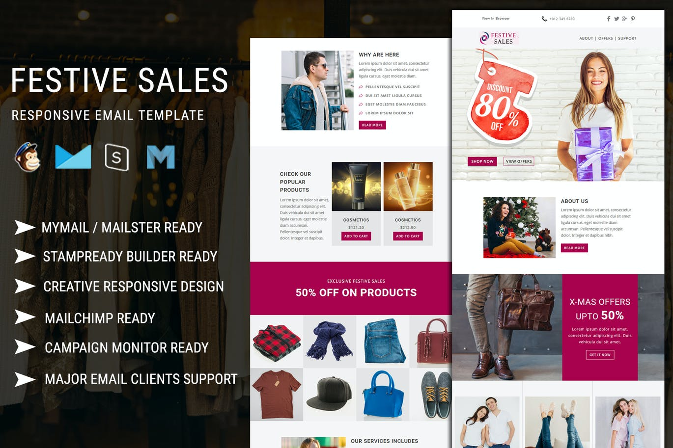 Festive Sales - Responsive Email Template