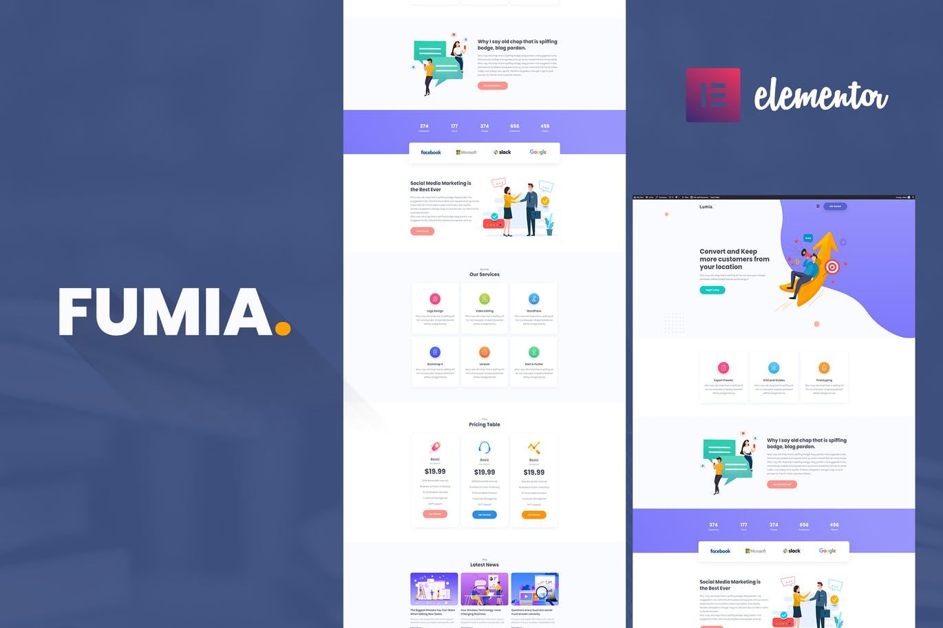 Fumia- Startup Agency Template Kit