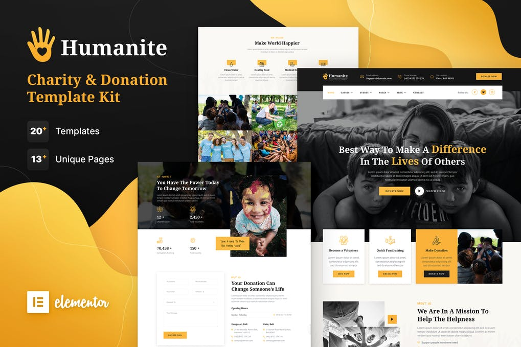 Humanite-–-Charity-Donation-Elementor-Template-Kit