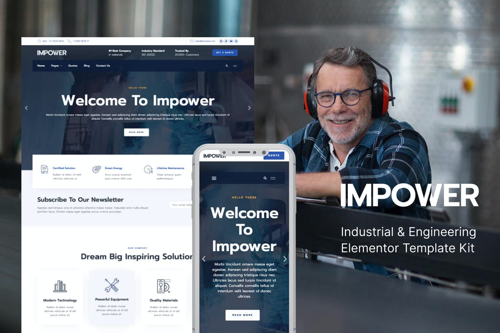 Impower - Engineering and Industrial Template Kit