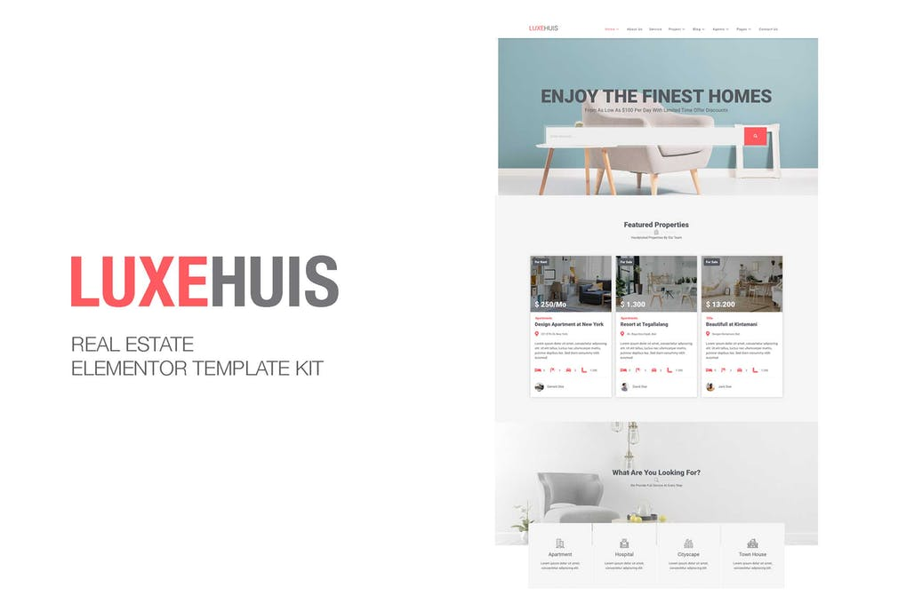 Luxehuis - Real Estate Elementor Template Kit