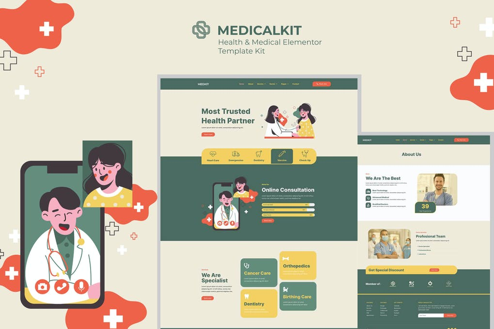 Medicalkit - Health & Clinical Care Elementor Template Kit