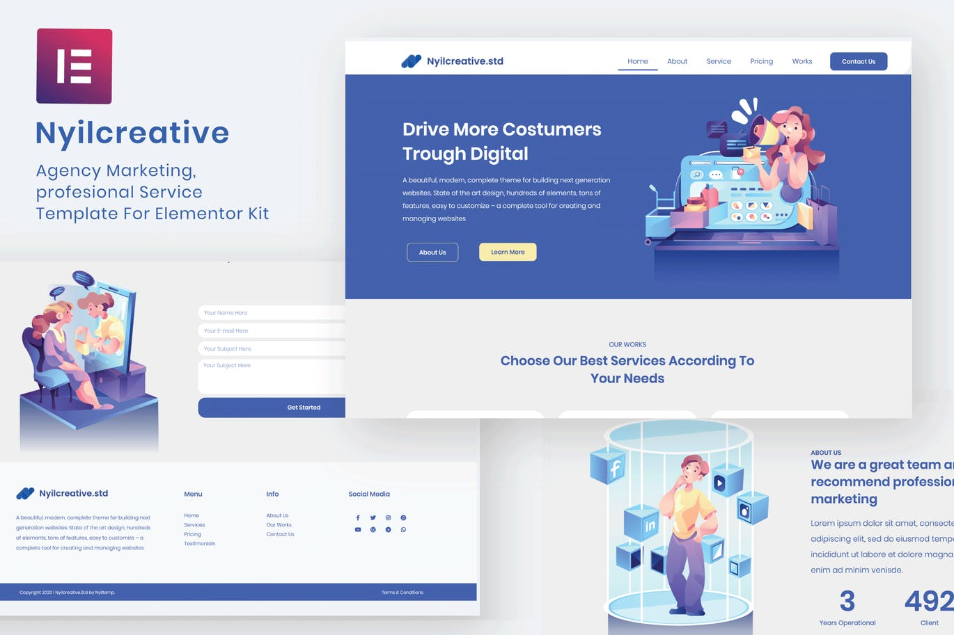 Nyil - Business Agency Elementor Template Kit