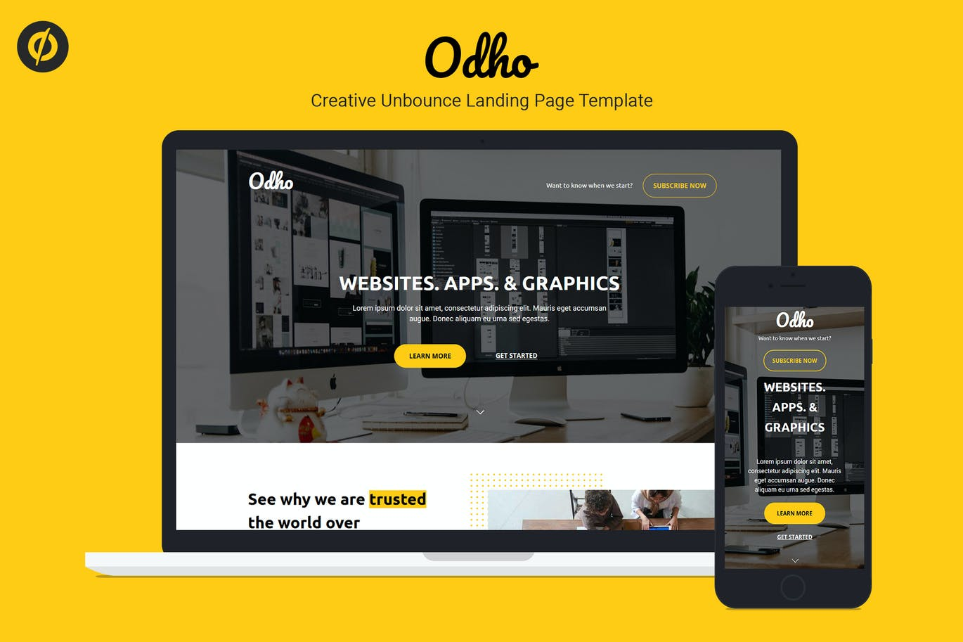 Odho-—-Responsive-Unbounce-Landing-Page-Template