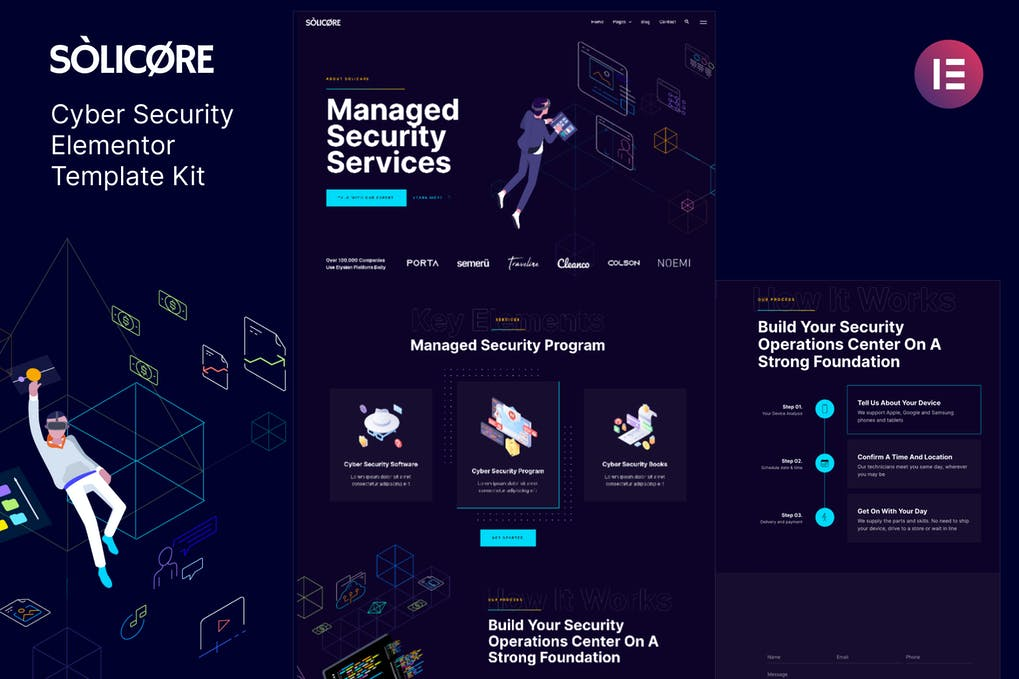 Solicore Cyber Security Elementor Template Kit