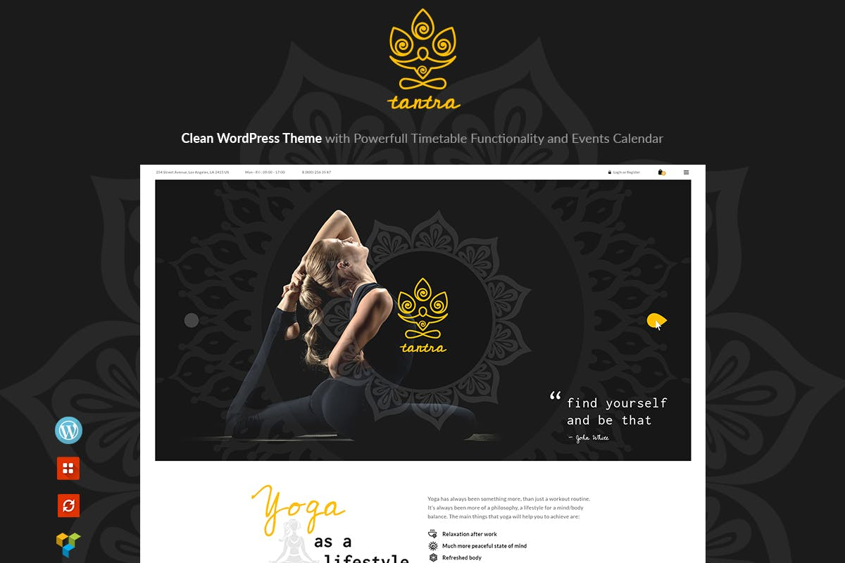 Tantra - A Yoga Studio and Fitness Club WP Theme