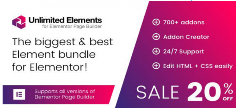 Unlimited Elements for Elementor Page Builder