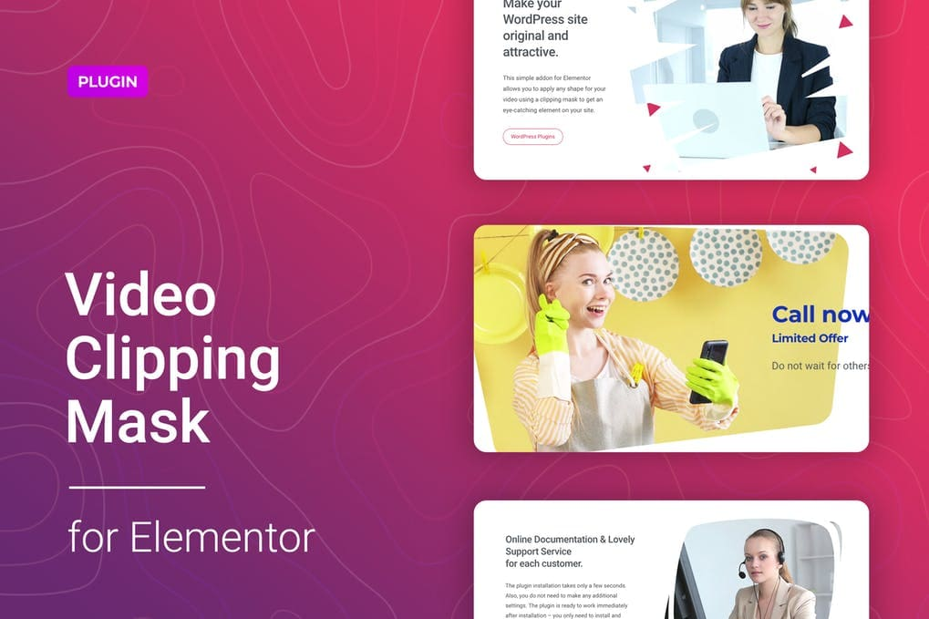 Video Clipping Mask for Elementor