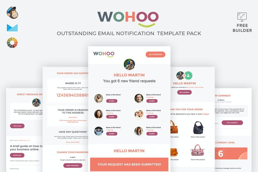WOHOO - Beautiful Email Notifications Template