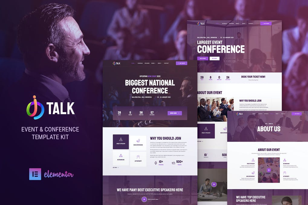 iTalk-–-Event-Conference-Elementor-Template-Kit